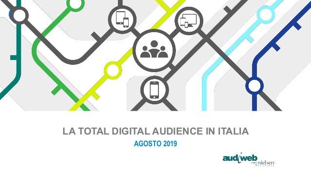 Dati audiweb di agosto 2019: 32 milioni di italiani online ogni giorno