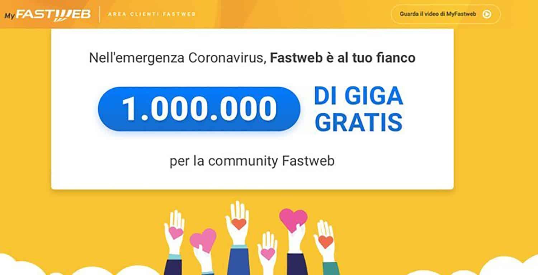 Promozione Fastweb 1 milione di GIGA Gratis