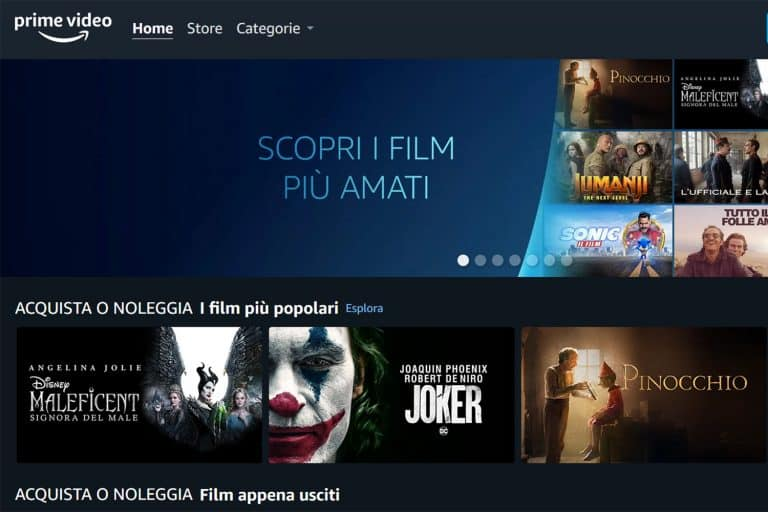Amazon Prime Video Store arriva in Italia