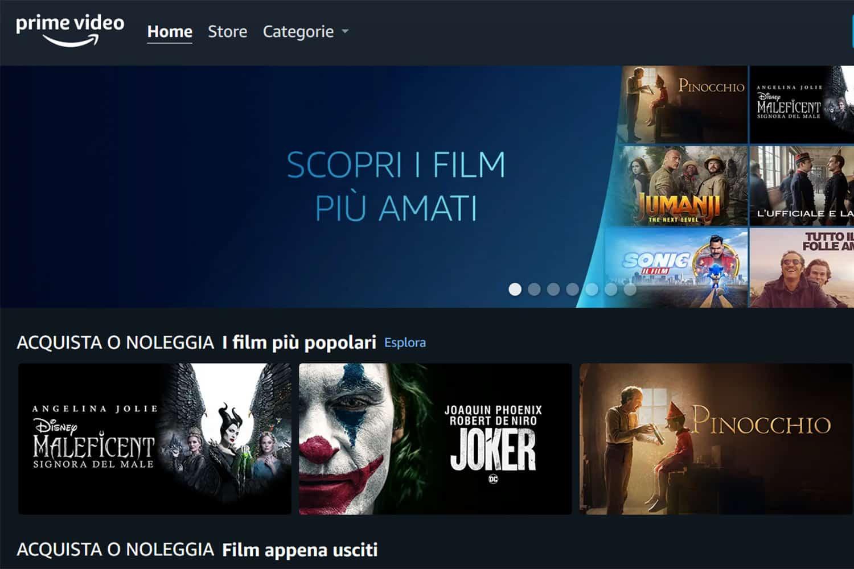 Amazon Prime Video Store arriva in Italia