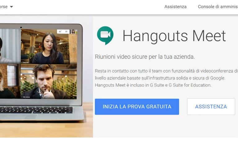 Google Hangouts Meet gratis per le videochiamate di scuola e lavoro