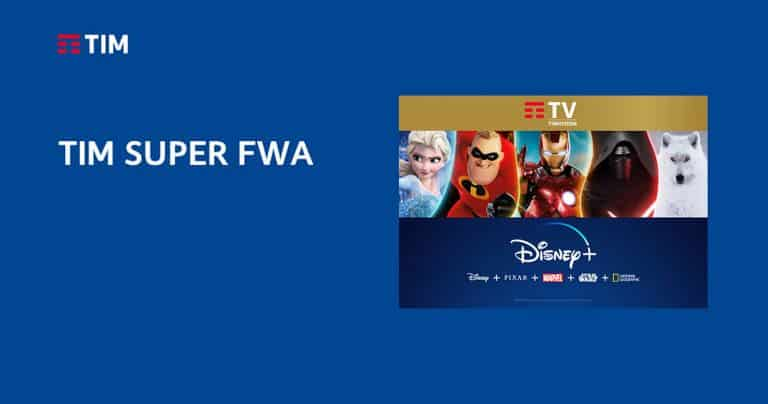 Offerta TIM SUPER FWA con Disney + incluso