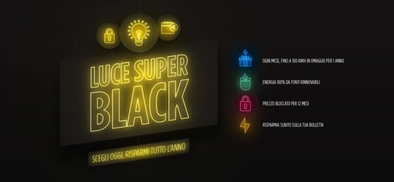 Luce Super Black: le tariffe Illumia per il Black Friday