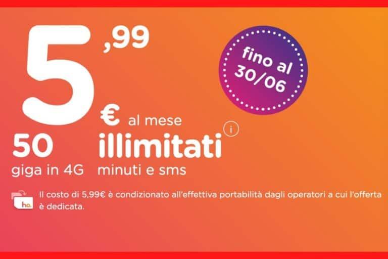 ho mobile Summer Edition: 5,99€ al mese con 50Gb